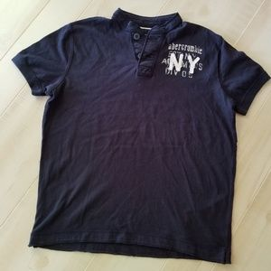 ABERCROMBIE Pull Over shirt in navy